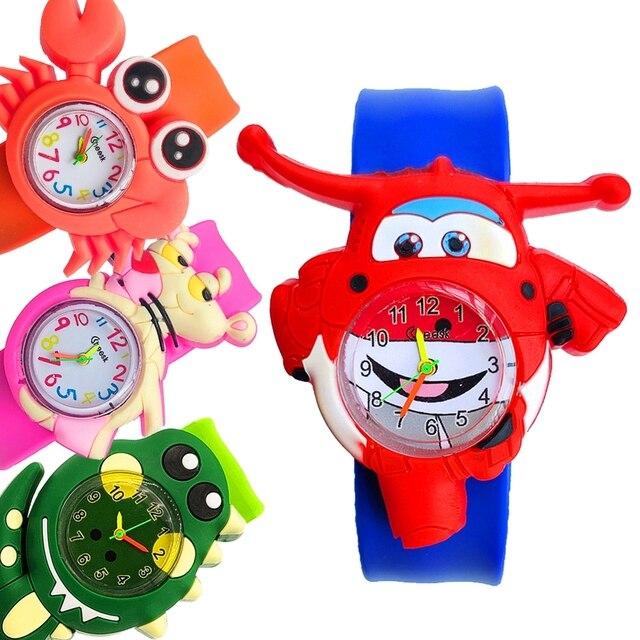 Children's Watches Baby Cartoon Toys Boy Lovely Xmas Gift Children Patted Wristwatch Kids Slap Watch Silicone Child Quartz Watch