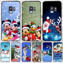 Mickey Christmas For Samsung Galaxy S6 S7 Edge S8 S9 S10 Plus Lite Note 8 9 10 A30 A40 A50 A60 A70 M10 M20 phone Case Cover etui