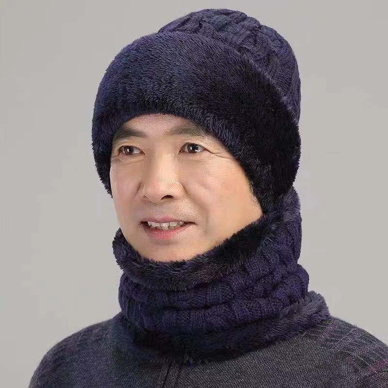 Balaclava Wool Knit Neck Mask Hat Winter Keep Head Warm Knitted Hats Men Women Winter Beanies Skullies Knitting Hedging Caps