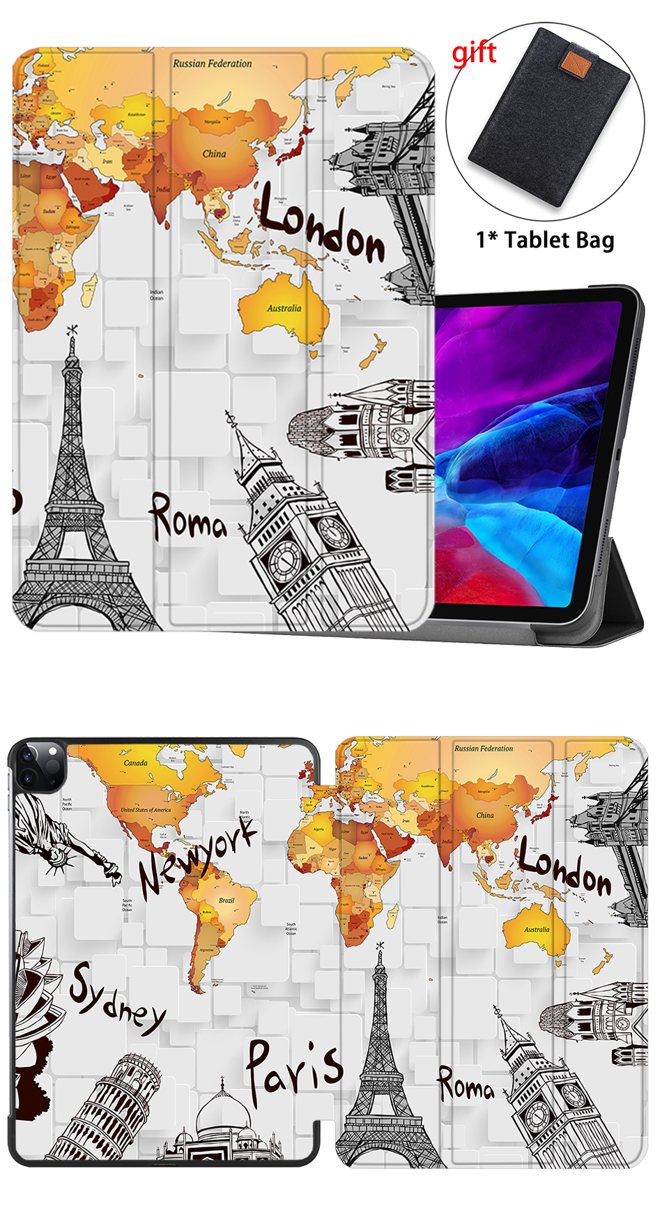 PU Stand Pro MTT Smart A2233 2020 Flip Leather For Magnetic A2229 iPad Case inch 12.9