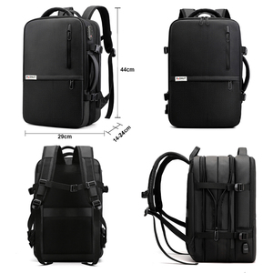 Image 5 - Anti Theft Backpack 17 Inch Laptop Men Bagpack Travel Waterproof Large Capacity Back Pack Women Male Black Backpacks USB Charger