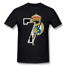 Seven Real Madrid printing Casual O-Neck Men's Basic Short Sleeve T-Shirt 100% Cotton Tee Shirt Printed men clothes 2019 цена