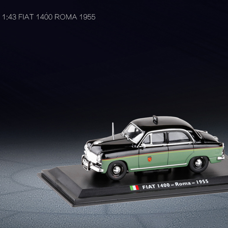 1/43 Fiat 1400 Roma 1955 TAXI Diecast Italian Car Model Collection Decoration Cab Classic With Original Box Kids Toys Gifts Show