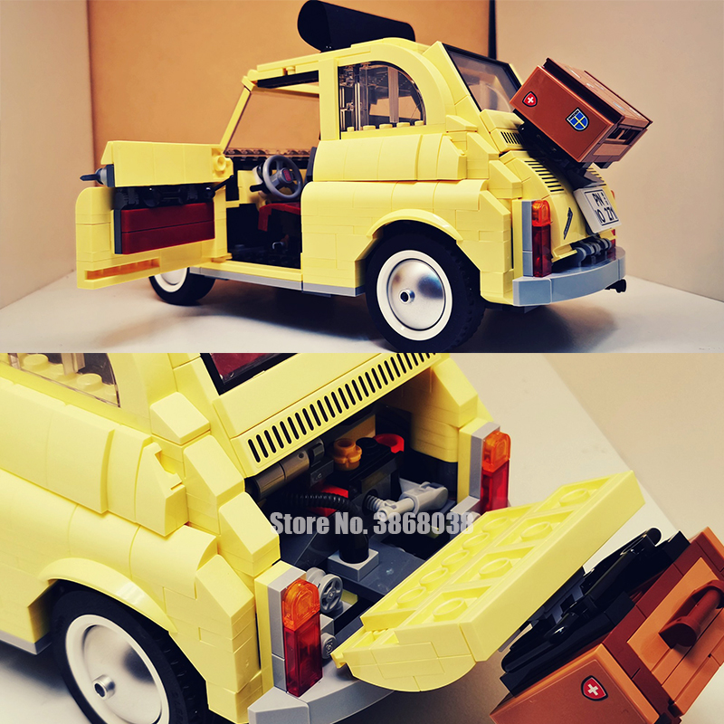 960pcs Building Blocks Compatible Lepining 10271 FIATed 500 City Car Creator Series Model Children Kids Christmas Gift Toys