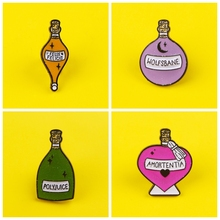 Magic Potion Badges for Backpack Retro Perfume Brooches Badges for Clothes Enamel Pins for Backpacks Badge Clothes Lapel Pin DIY planets badges for backpack universe brooches space man badge enamel pins for backpacks badges for clothes clothes lapel pin diy
