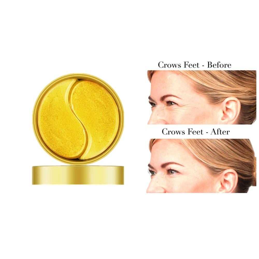 60pcs Collagen Anti Wrinkle Gel Sleep Eye Patches Gold/Seaweed Collagen Eye Mask For Under The Eye Bags Dark Circles Eye Pads