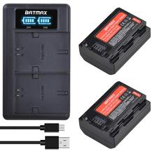 2pcs 2650mAh NP FZ100 NPFZ100 NP-FZ100 Battery + LED Dual USB Charger for Sony Alpha A7III A7R III A9 Alpha 9 A7R3 A6600 Cameras cheap Batmax Standard Battery Rechargeable Li-ion battery 7 2V Work as your original battery and dislay power level on the camera