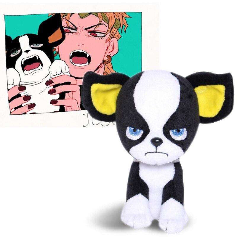Hce55137a78634bacae54325d942357bb8 Pelúcia Jojo's Bizarre Adventure Anime jojo aventura bizarra cão iggy brinquedo de pelúcia boneca de pelúcia bonito mascote cosplay prop coleção bonecas pp brinquedo de pelúcia