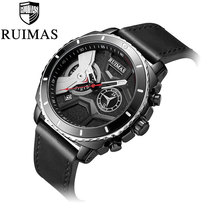 Men Watch  Luxury Mens Watches Male Clocks Date Sport Military Clock Leather Strap Quartz Business top brand Relogio Masculino недорого