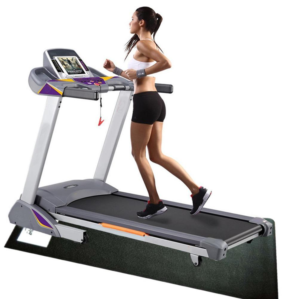 """78/""""x36/"""" Fitness Equipment Mat and Floor Protector for Treadmills Exercise Bikes"""