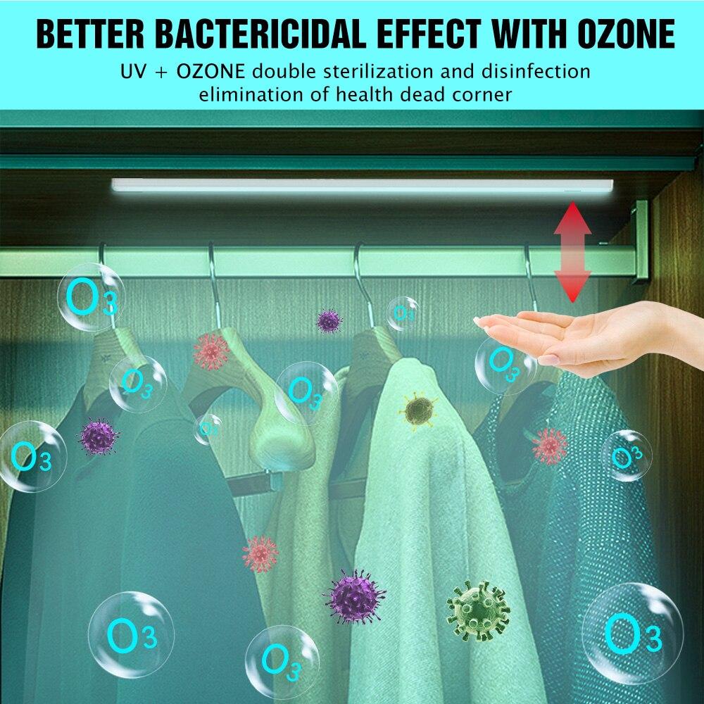 UV Germicidal Light LED UVC Sterilizer Lamp Wardrobe Hand Sweep Sensing Disinfect Bactericidal Irradiator For Cabinet Wall Lamp
