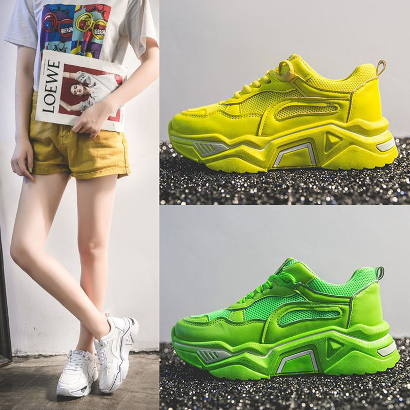 Women's Casual Sports Summer Breathable Shoes New Ins Style Shoes Mesh Comfort Sneakers Are Versatile Platform Small White Shoes