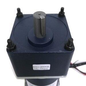 Image 4 - Motorreductor de corriente continua Micro eléctrico potente, 200W, 12V, 24V, alto Torque, baja velocidad, de 10 a 600RPM, motores de CC, velocidad ajustable inversa