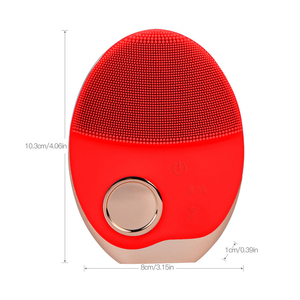Image 5 - Mini Electric Ultrasonic Wireless charging Facial Cleansing Brush Silicone Rechargeable Face Waterproof Massager with Photon 40