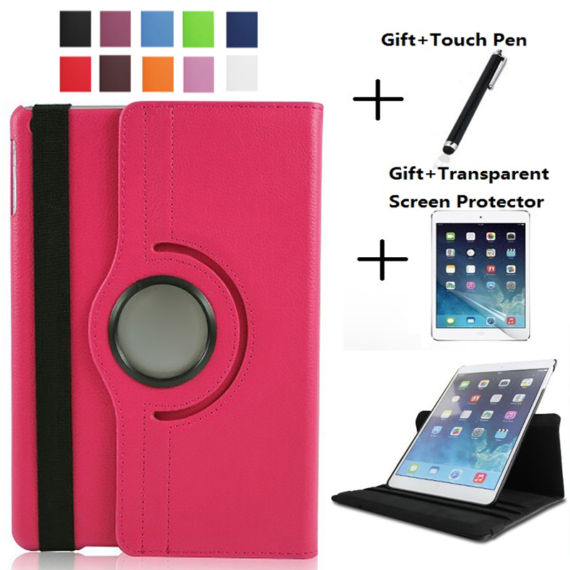 2017 Cover Case For Apple IPad Mini,360 Rotation Flip PU Leather Case Stand Case For IPad Mini 1 2 3 Funda Case For IPad Mini 2
