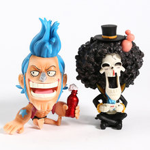 Anime One Piece Franky Brook PVC Figure Toy Collectible Modelo GK(China)