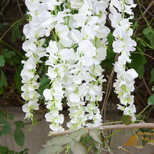 1 Pcs Artificial Flower String Long Wisteria Bean Vine Flower String Indoor And