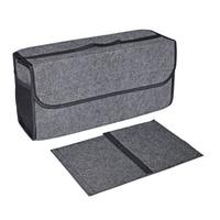 Caixa de armazenamento de feltro do carro mala do veículo caixa de ferramentas multi-uso organizador saco tapete dobrável automóveis acessórios interiores