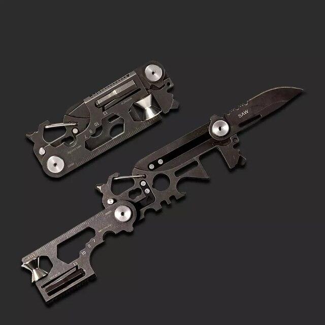 Xiaomi PockeTool Herramienta de supervivencia para caza al aire libre, dispositivo portátil herramienta multiuso de bolsillo, sierra de cuchillo plegable