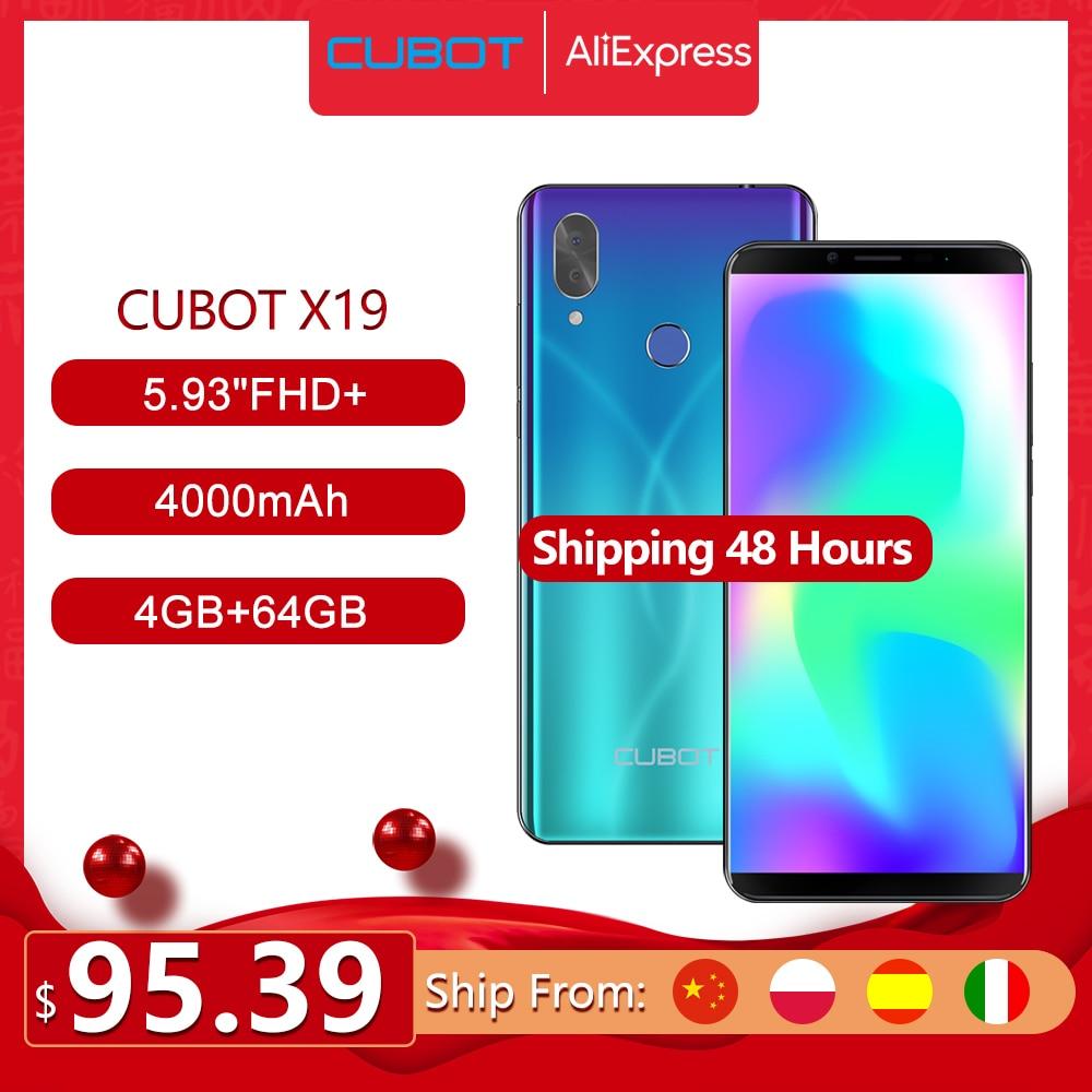 "Cubot X19 Helio P23 Octa-Core Smartphone Dual Camera 16MP 5.93"" 2160*1080 FHD+ Face ID 4000mAh Big Battery 4GB+64GB Celular(China)"