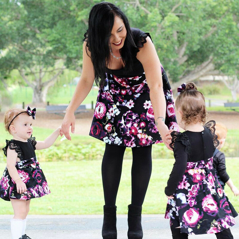 Sister Matching Outfits Christmas Baby Girl Clothes Toddler Kids Lace Romper Dress Party Dresses Costumes Set