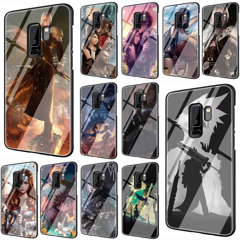 Final Fantasy Tempered Glass Phone Cover Case For Galaxy S7 edge S8 Note 8 9 10 Plus A10 20 30 <font><b>40</b></font> 50 <font><b>60</b></font> 70 image