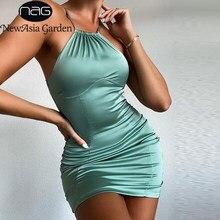 NewAsia-robe de soirée Mini-robe de soirée à bretelles Spaghetti courbe, couleur unie, vin, coupe Slim, Club et maïs