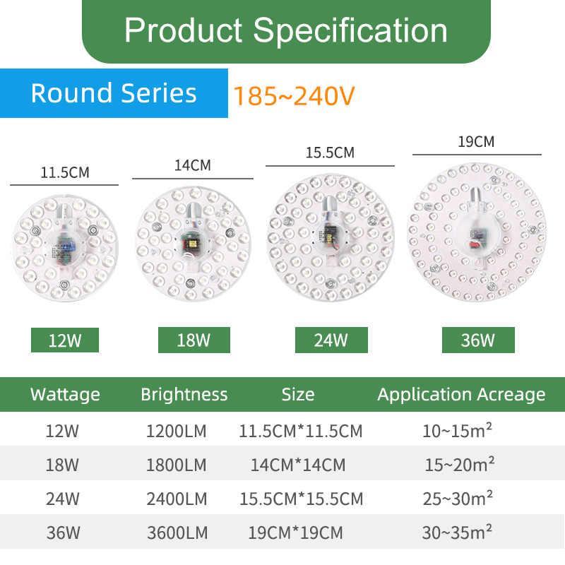 Kaguyahime Magnetik Modul LED Light 12W 16W 20W 24W Led Downlight Magnet Aksesori Gurita Cincin Plat lampu Led 220V untuk Langit-langit