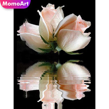 MomoArt 5D Diamond Painting Flowers Full Drill Square DIY Diamond Embroidery Cross Stitch Gift Home Decoration momoart 5d full drill square diamond painting flowers diy diamond embroidery daisy cross stitch home decoration gift