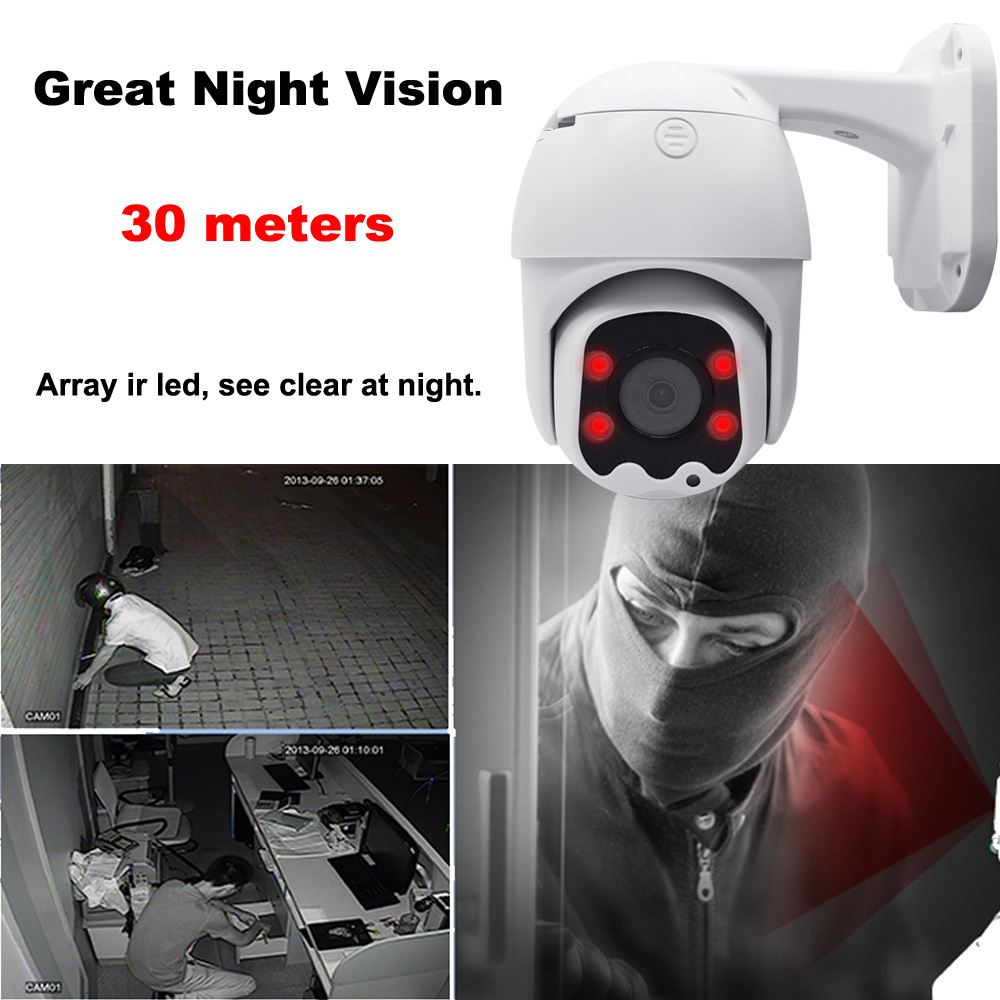 Image 4 - PTZ Camera AHD 2.0MP Outdoor 1080P CCTV Analog camera Speed Dome Security System Waterproof Surveillance Camera 30M Pan Tilt-in Surveillance Cameras from Security & Protection