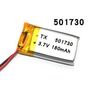 3,7 V 180mAh 501730 литий-полимерная LiPo аккумуляторная батарея ионные ячейки для Mp3 Mp4 Mp5 DIY PAD DVD электронная книга bluetooth гарнитура