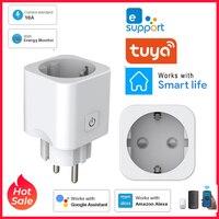 10A WiFi Smart EU Stecker Adapter Mit Timing Funktion EWeLink APP Control Fernbedienung Stimme Steuer Arbeit Mit Google Smart Home alexa