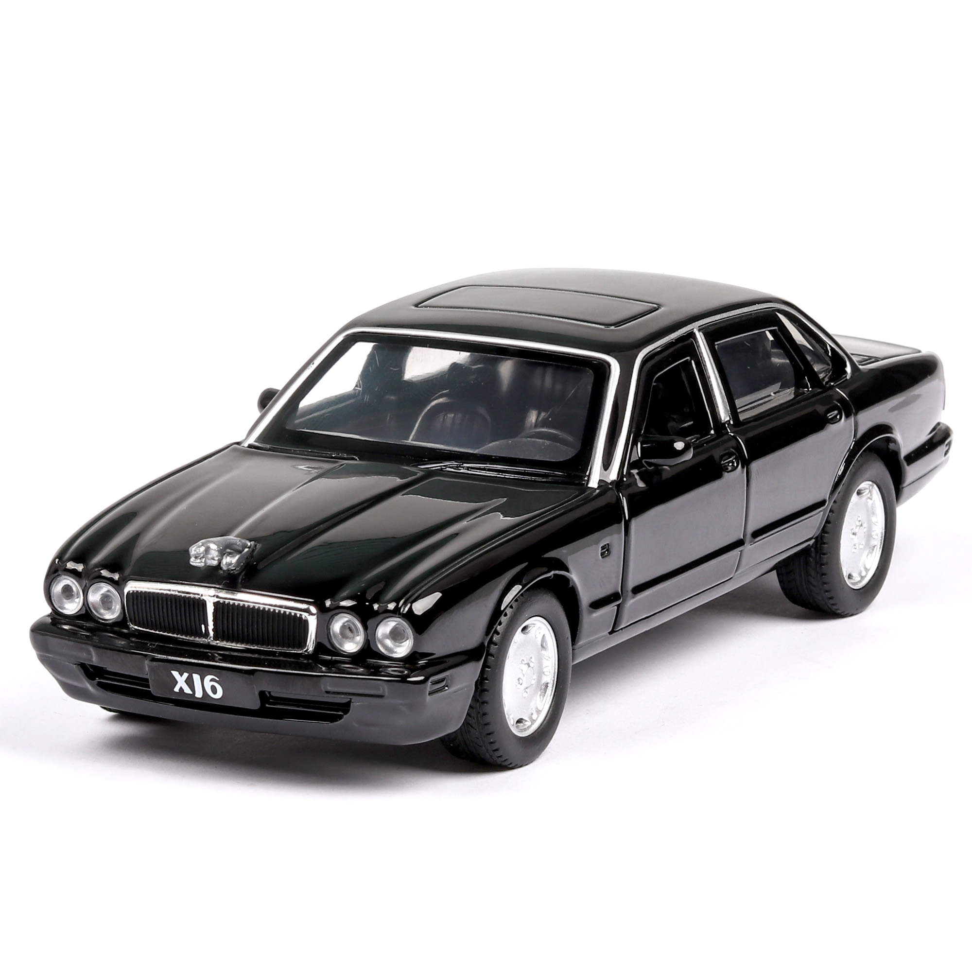 1:32 JAGUAR XJ6 Alloy Sports Car Model Diecast Super Racing Lifting Tail Hot Wheel For Children Thomas Car Toys For Boys Glider