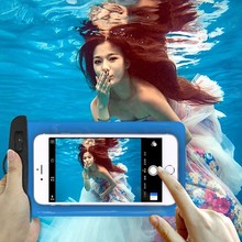 Universal Clear Mobile Phone Dry Pouch Waterproof PVC Cell Phone Bag for Swimming Diving Water Sports Phone Case Bag 105x175MM waterproof pvc bag case w strap armband for cell phone more transparent light blue