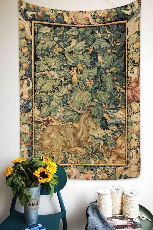 Simsant abstrato flor tapeçaria abóbora lâmpada noite céu arte tapeçarias de suspensão parede para sala estar quarto dormitório casa decoração