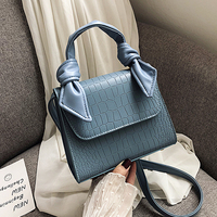 Solid Colors Pattern Leather Crossbody Bag