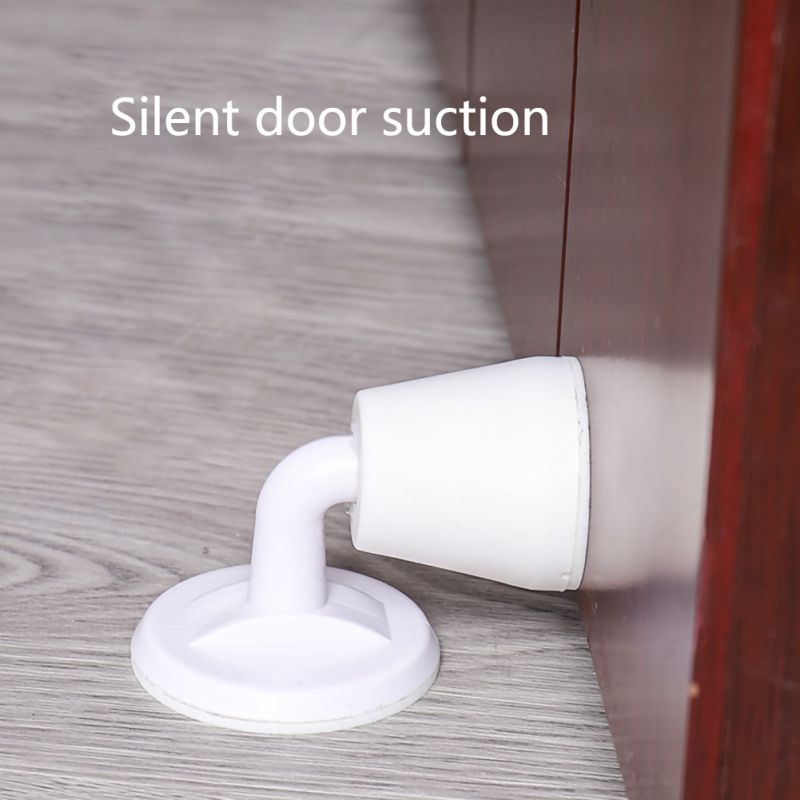 Door Suction Device Suction Door Stops Invisible Anti-collision Punch Silicone Anti-collision Door Stop1