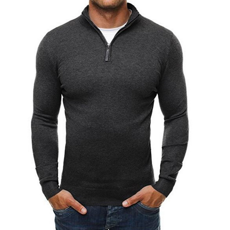 2019 New Autumn Winter Fashion Men Sweater Casual Sweater Turtleneck Slim Fit Knitting Sweaters Knitted Pullover Brand