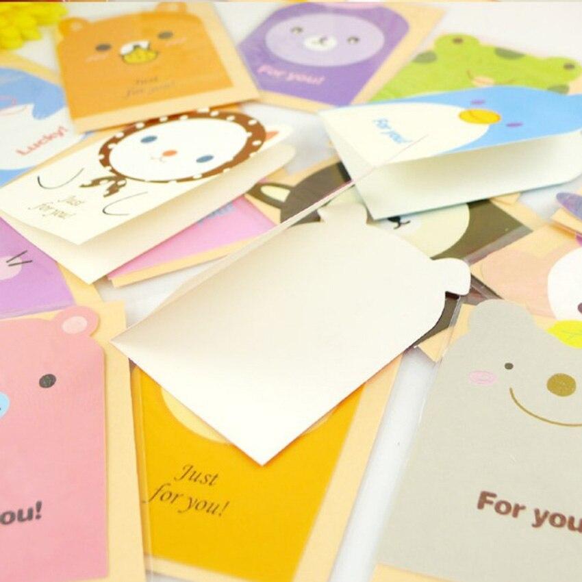 10Pcs/lot kawaii Cartoon animal design postcard Greeting card/thanks  card/message card