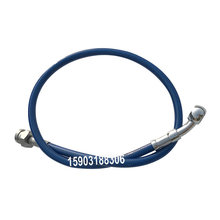 Automotive motorcycle 1/8 stainless steel braided PTFE line PU covered fuel line with stainless steel material Hexagonal Joint automotive motorcycle 1 8 stainless steel braided ptfe line pu covered fuel line with stainless steel material hexagonal joint