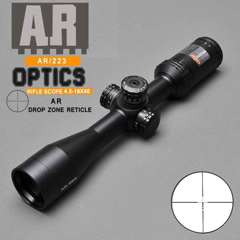 Hunting Riflescopes Optic Sight 4.5-18x40 AR/223  For Airsoft Gun With Garget Turrets Sniper