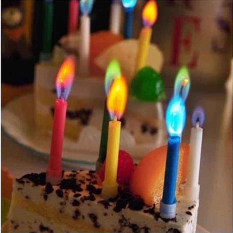 Surprising 1Set5Pcs Environmental Protection Colored Safe Flames Birthday Personalised Birthday Cards Veneteletsinfo