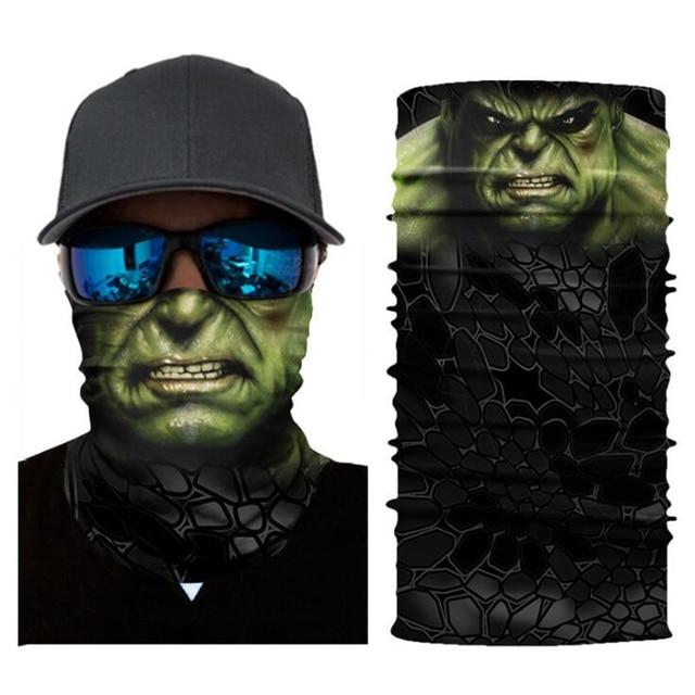 Superheros Hulk Black Panther Deadpool Motorcycle Cycling Neck Scarf Half Face Mask Bandana Headband Cosplay Masks 5