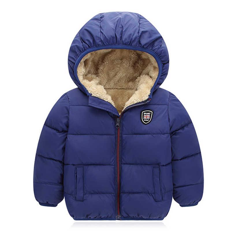 נערי ילדי מעילים הלבשה עליונה בנות למטה מעיל חדש שנה לבני חם תינוק אפוד ילדים קטיפה ברדס מעיל בגדים