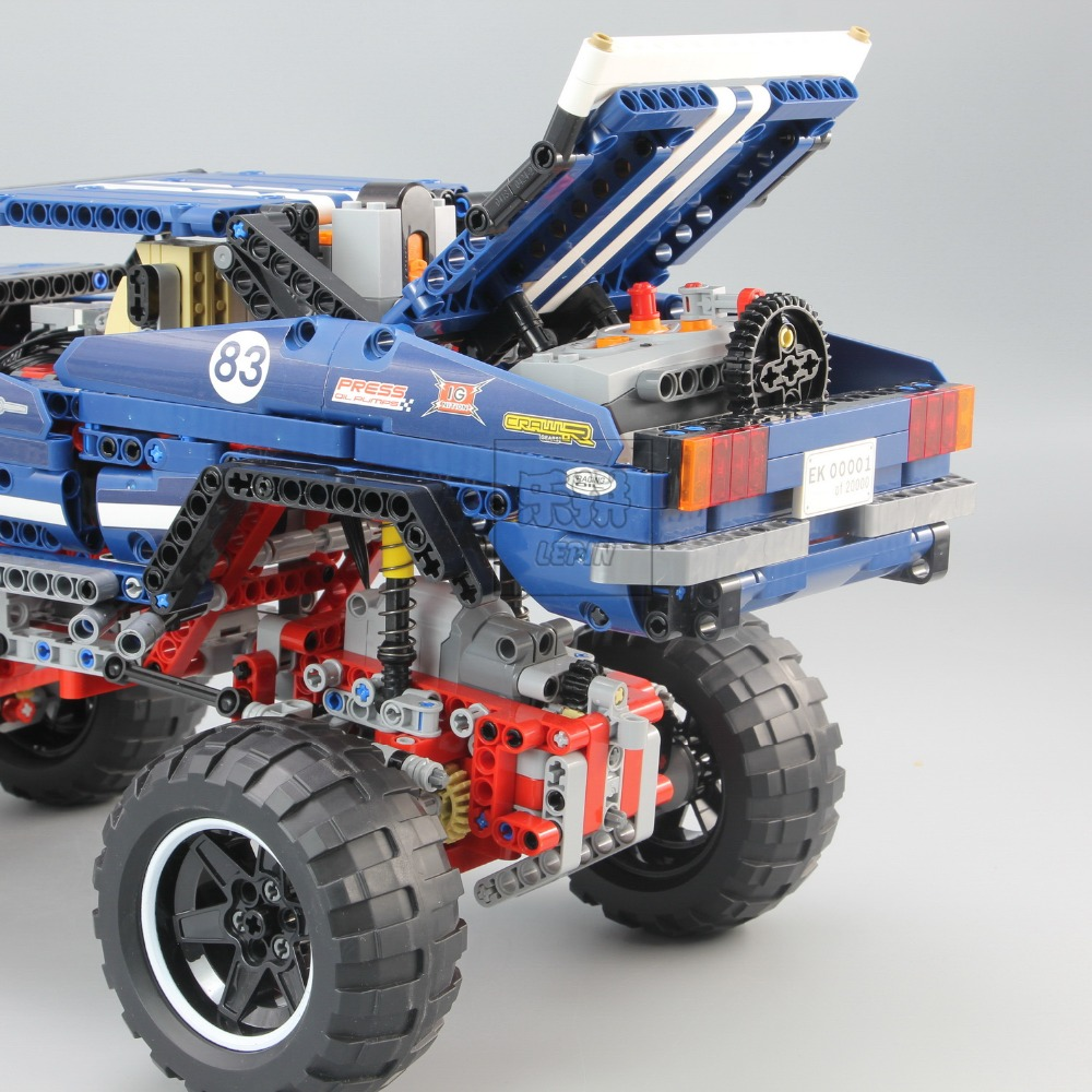 20011 Technic series Motor Power 4x4 Crawler Assembly Car Set Model Kit Building Blocks Bricks Compatible With legoing 41999 TOY 16