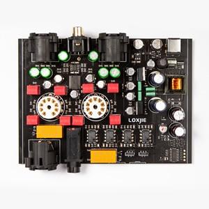 Image 5 - LOXJIE P20 Full Balance Tube Headphone Power Amplifier Use the Military Grade 6N3 Tube Powerful Hi End volume control NJW1195