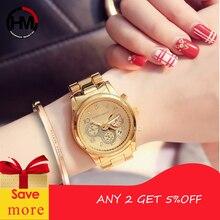 Rose Gold Ladies Waterproof Quartz Calendar Wristwatch