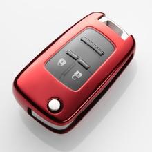 TPU Key Holder Cover Case For Chevrolet For Cruze Aveo Trax Opel Astra Corsa Meriva Zafira Antara J Mokka Insignia Key Fob Shell car styling auto tpu case for chevrolet cruze aveo trax opel astra corsa antara meriva zafira astra j builk insignia car styling
