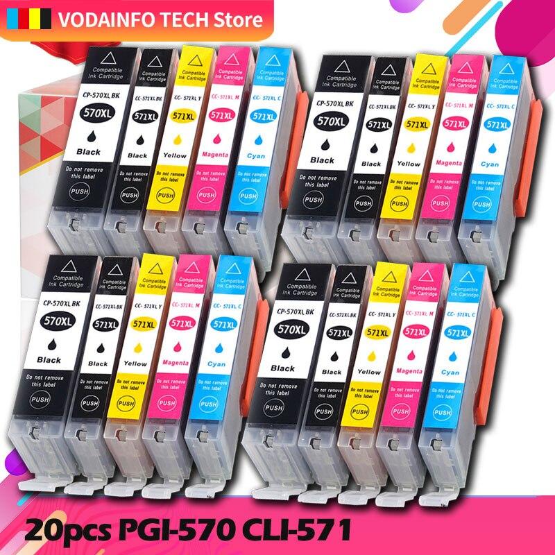 20 штук 570 571 PGI-570 CLI-571 чернильный картридж для принтера canon принтерам PIXMA MG5750 MG5751 MG5752 MG6850 MG6851 MG6852 TS6050 TS5050 5051