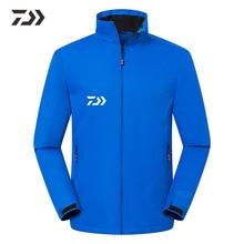 Осень Зима Daiwa Рыболовная куртка водонепроницаемая термальная рыболовная одежда однотонный мужской рыболовный костюм одежда на открытом воздухе на Молнии Рыболовная рубашка